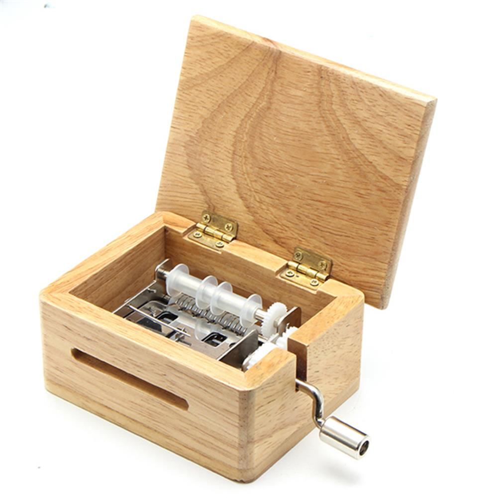 music-box DIY Hand-Cranked Music Box 15 Tone Wooden Box with Hole Puncher And Paper Tapes Birthday Gift Present HOB1040359 3