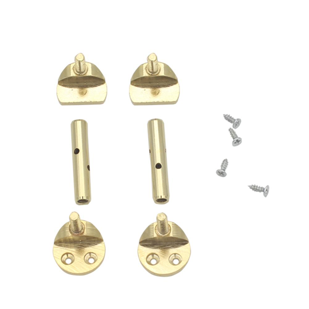 strings-accessories 3/4 4/4 Hill-style Violin Chinrest Screw Full Section Violin Chinrest Screws Gold HOB1052475
