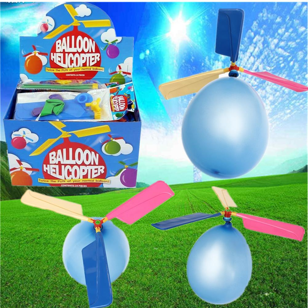 plane-parachute-toys 10PCS Wholesale Colorful Traditional Classic Balloon Helicopter Portable Flying Toy HOB1057121