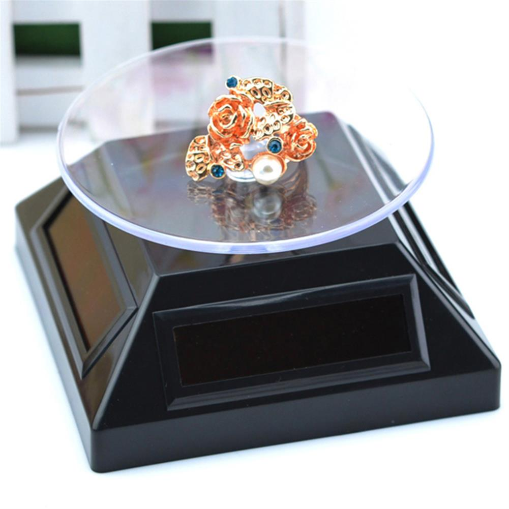 solar-powered-toys Solar Showcase 360 Turntable Rotation Display Stand for Displaying Jewelry Watch Ring Phone HOB1062444