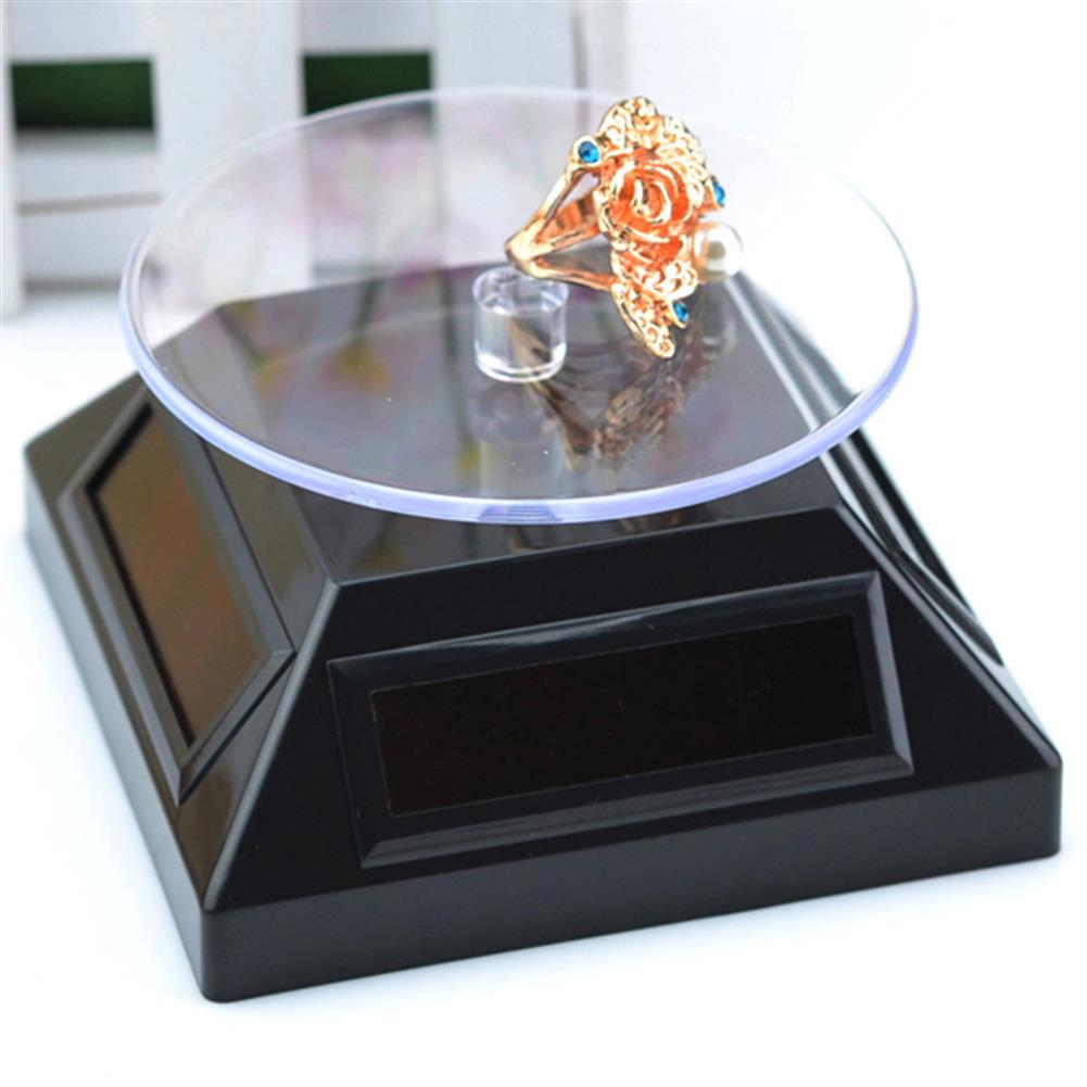 solar-powered-toys Solar Showcase 360 Turntable Rotation Display Stand for Displaying Jewelry Watch Ring Phone HOB1062444 1