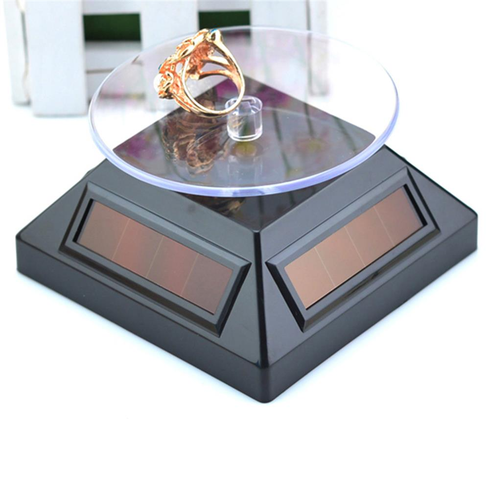 solar-powered-toys Solar Showcase 360 Turntable Rotation Display Stand for Displaying Jewelry Watch Ring Phone HOB1062444 2
