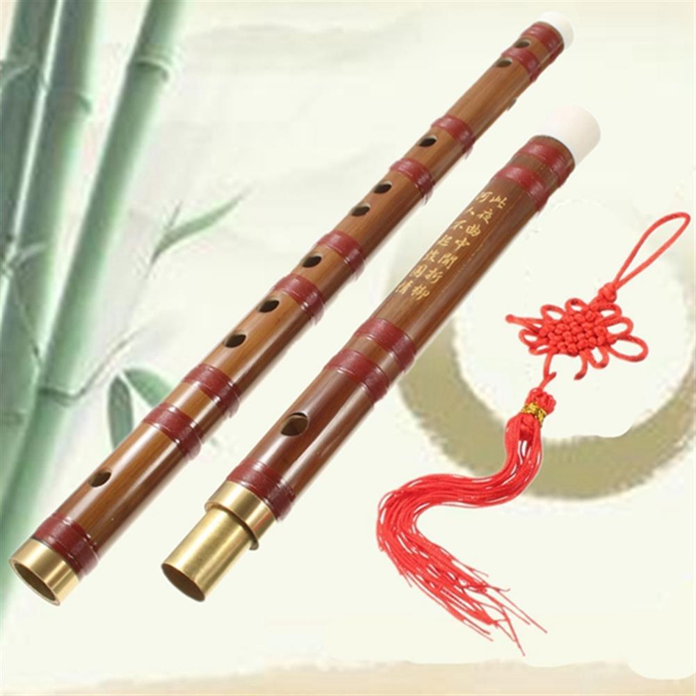folk-world-winds Handmade Traditional Chinese Musical instrument D Key Bamboo Flute 61mm HOB1069750