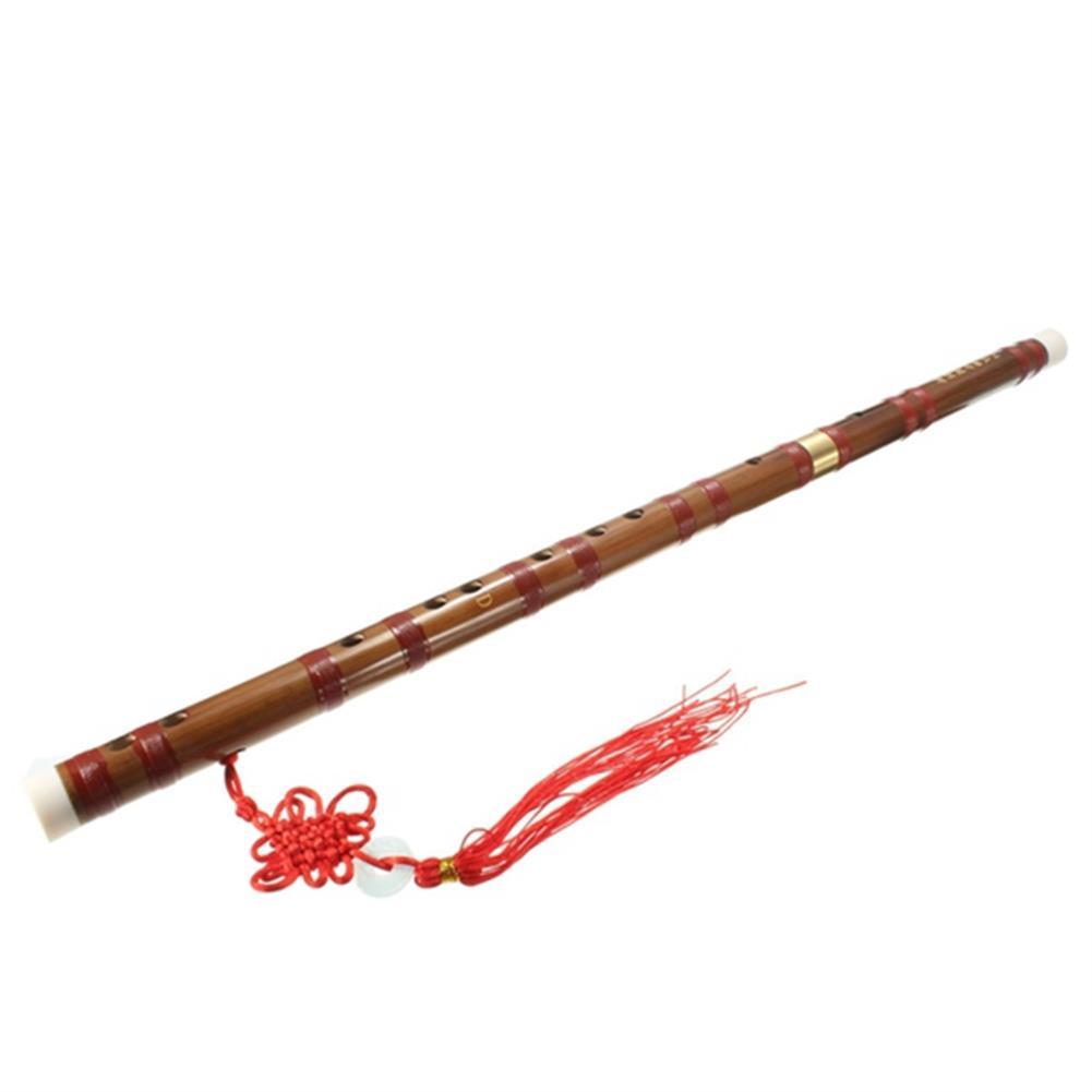folk-world-winds Handmade Traditional Chinese Musical instrument D Key Bamboo Flute 61mm HOB1069750 1
