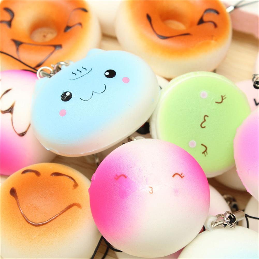 squishy-toys 20PCS Random Medium Mini Squishy Soft Panda Bread Cake Buns Phone Straps HOB1084852 1