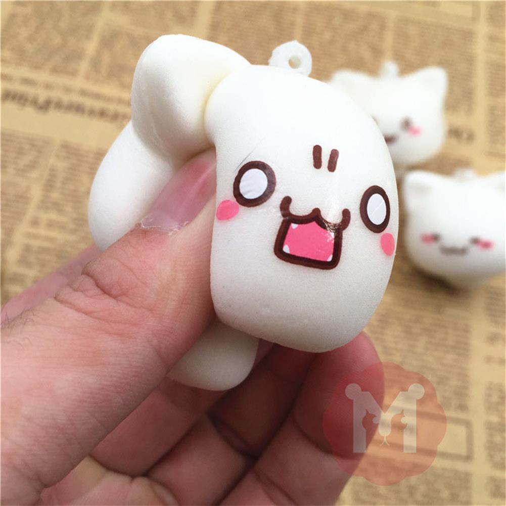 squishy-toys Squishy Toys Mushroom Cat Kawaii Cartoon Cute Face Decor Bag Cell Phone Straps HOB1092577 3