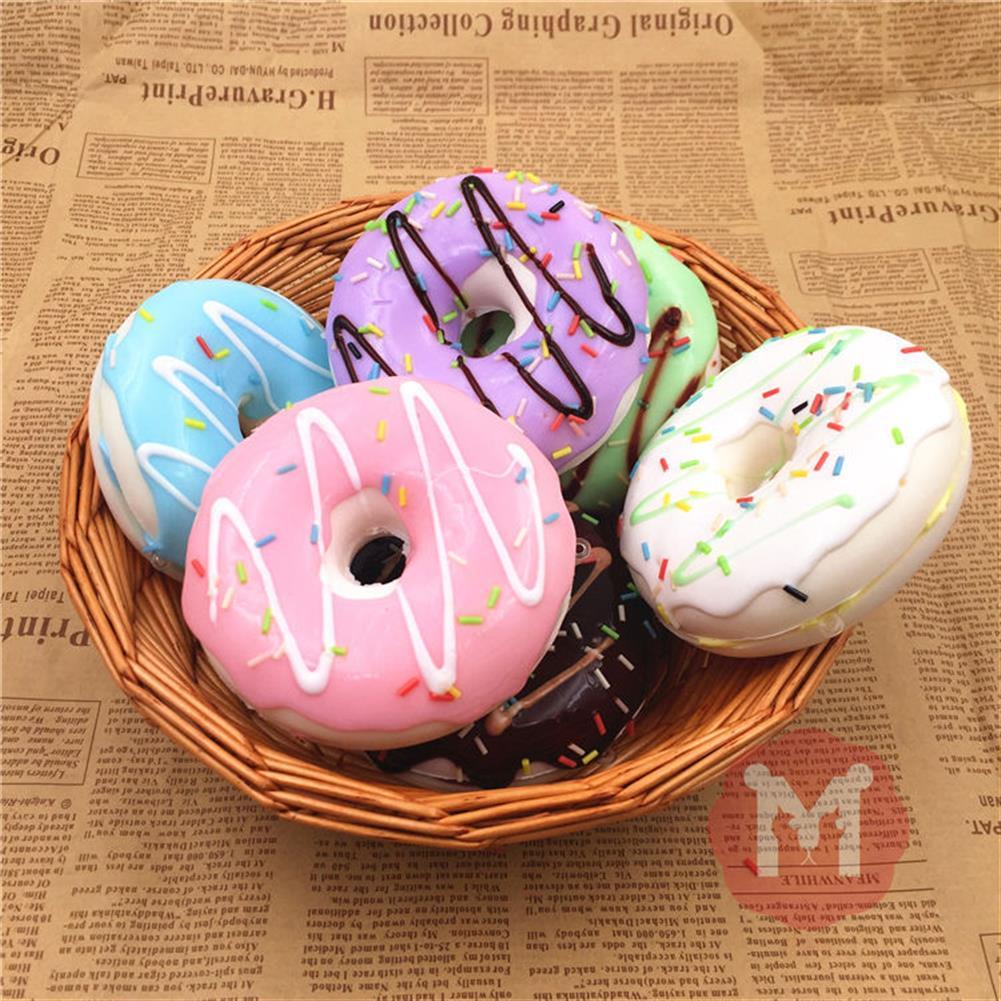 squishy-toys 10cm Cute Donuts Big Bread Charms Kawaii Squishy Soft Bag Keychain Straps Decor HOB1095139