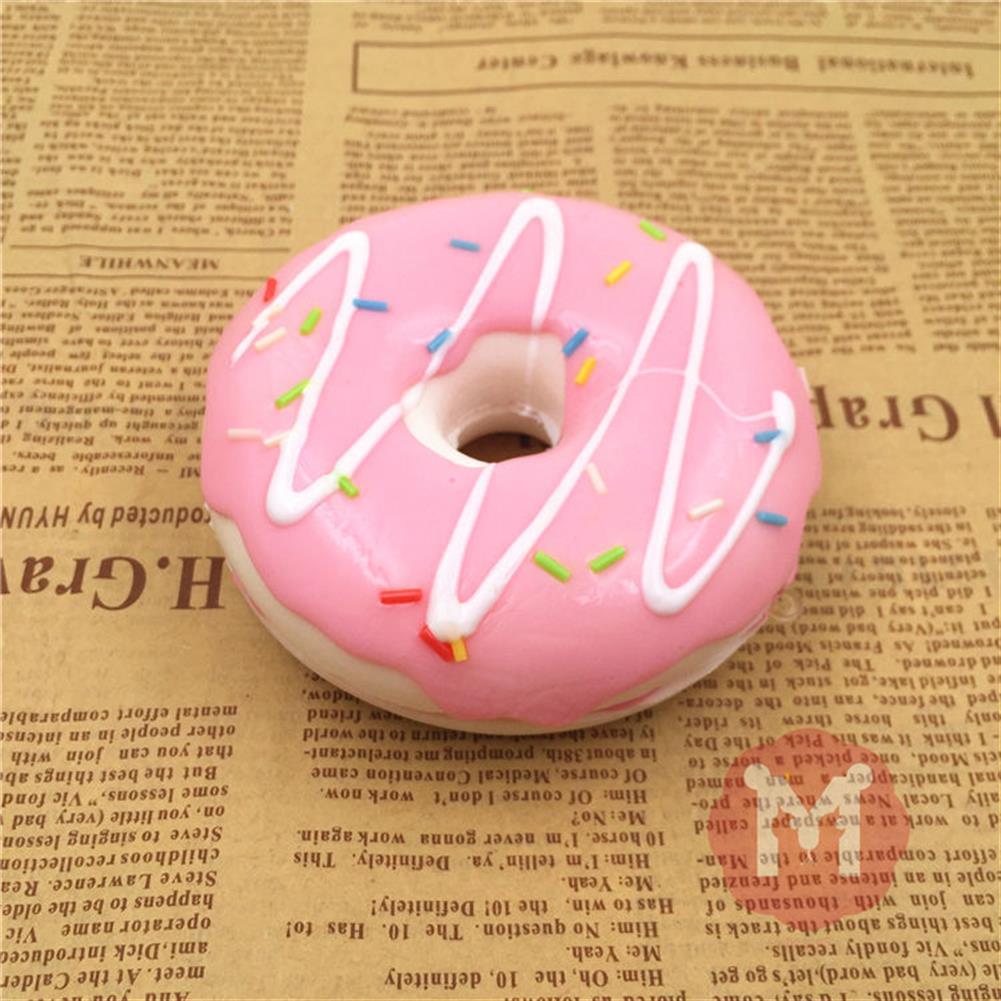 squishy-toys 10cm Cute Donuts Big Bread Charms Kawaii Squishy Soft Bag Keychain Straps Decor HOB1095139 1