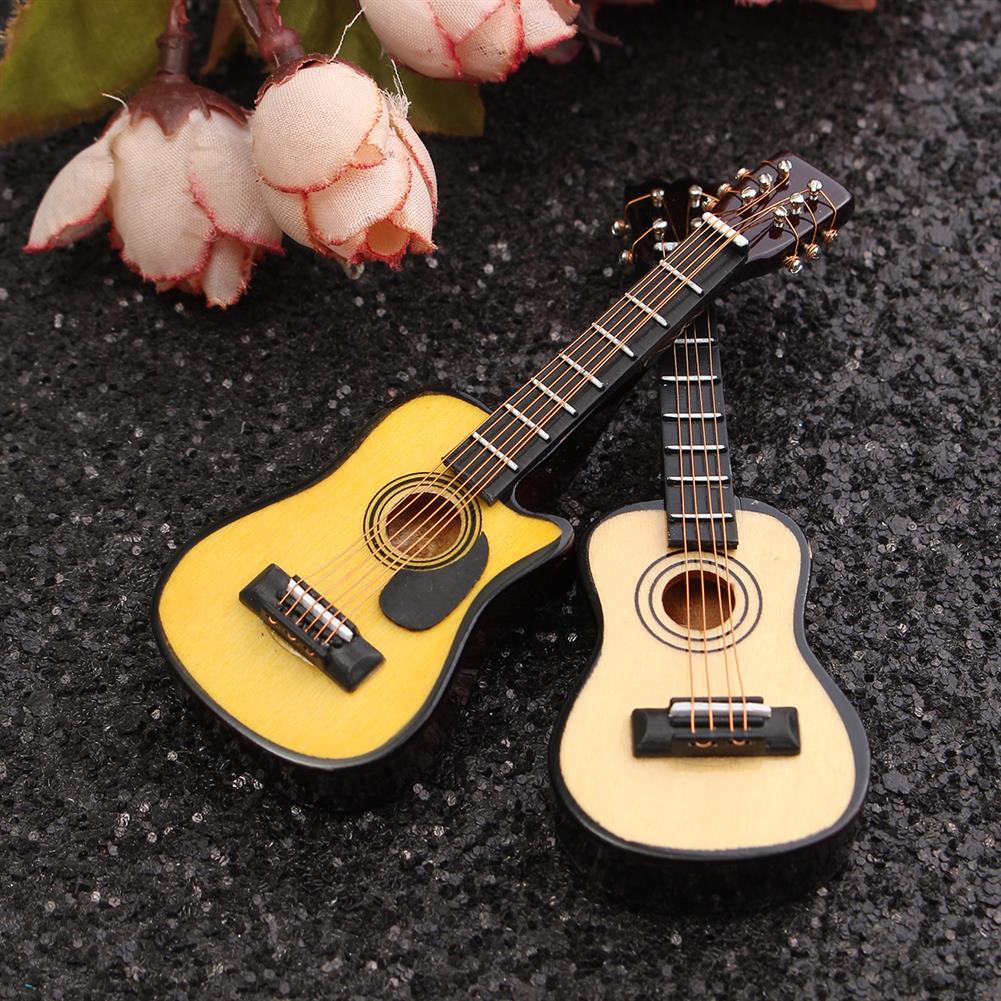 doll-house-miniature 1/12 Scale Dollhouse Miniature Guitar Accessories instrument DIY Part for Dollhouse HOB1097405
