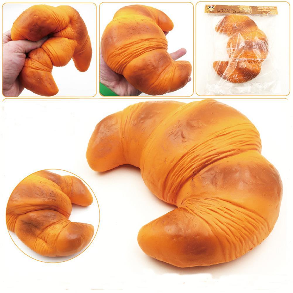 squishy-toys SquishyFun Croissant Bread Squishy Super Slow Rising 18x15CM Original Packaging Squeeze Toy Fun Gift HOB1100967 1