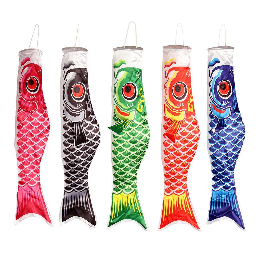 plane-parachute-toys 100cm Koi Nobori Carp Wind Sock Koinobori Fish Kite Flag Hanging Decor HOB1104287 1
