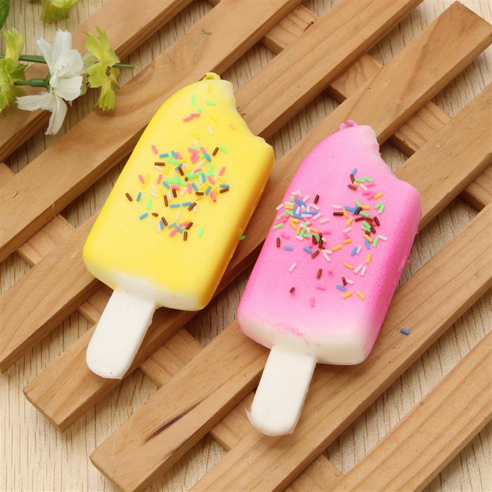 squishy-toys 11cm Ice Lolly Popsicle Squishy Charm PU Phone Strap Decor Random Color Gift HOB1109737