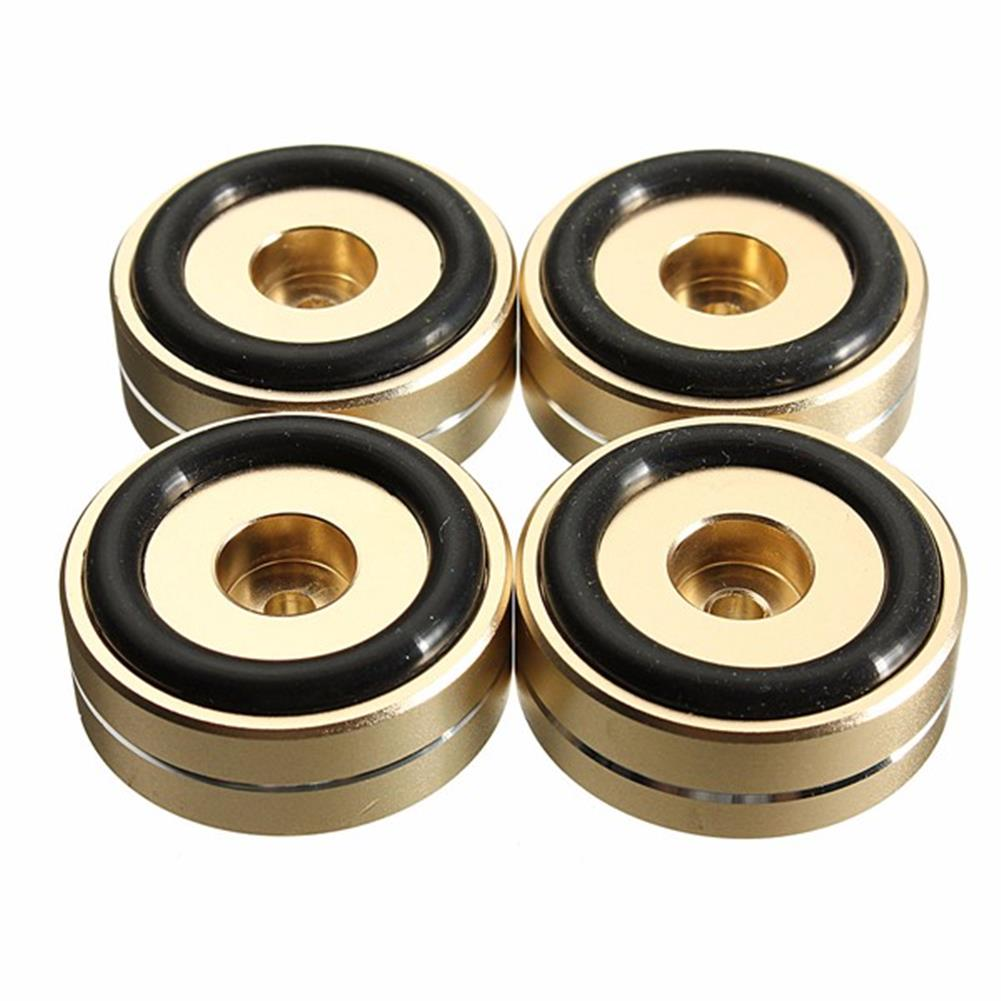 general-accessories 4pcs 40x15mm Isolation Speaker Stand Base Turntable Golden Feet Pad HOB1110691