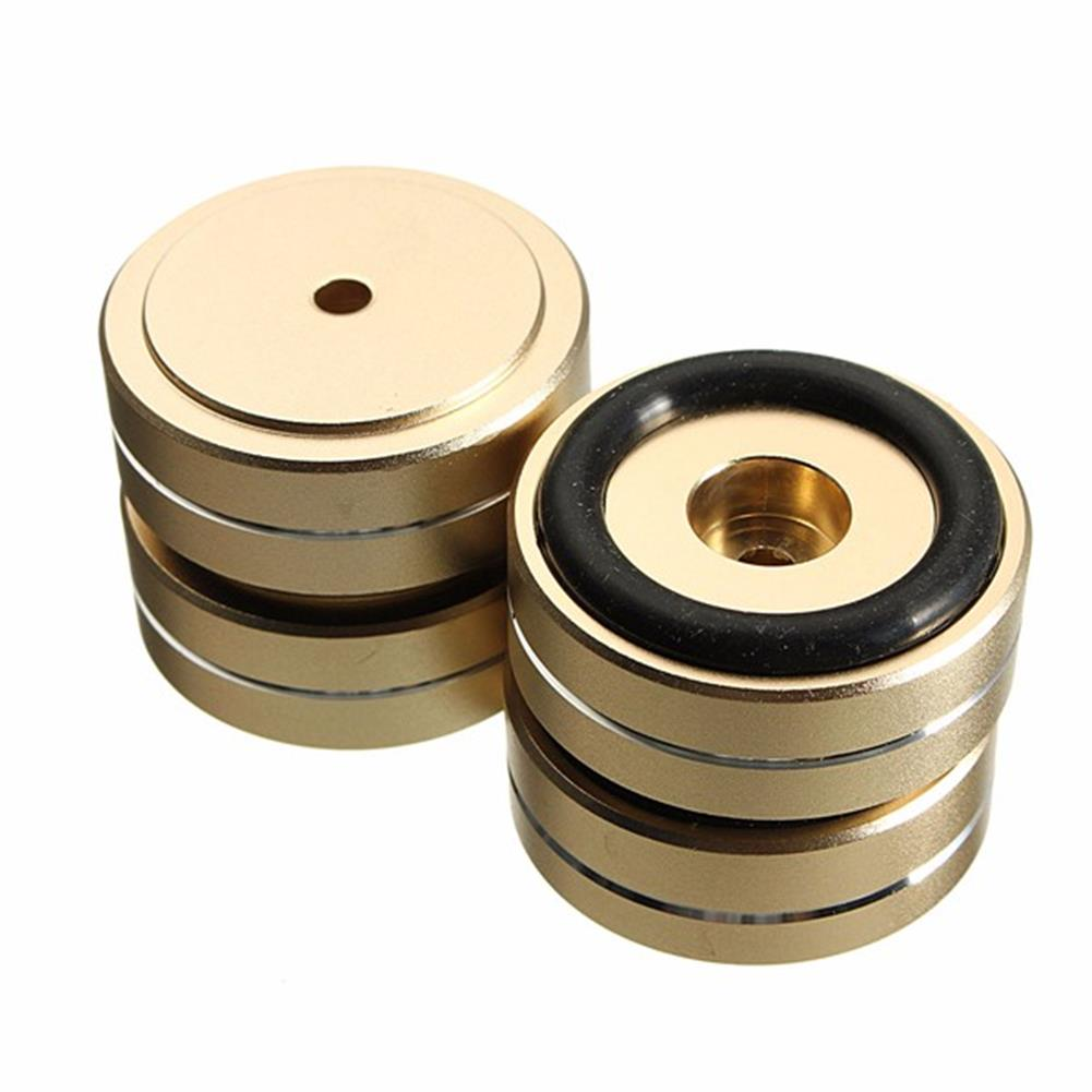 general-accessories 4pcs 40x15mm Isolation Speaker Stand Base Turntable Golden Feet Pad HOB1110691 1