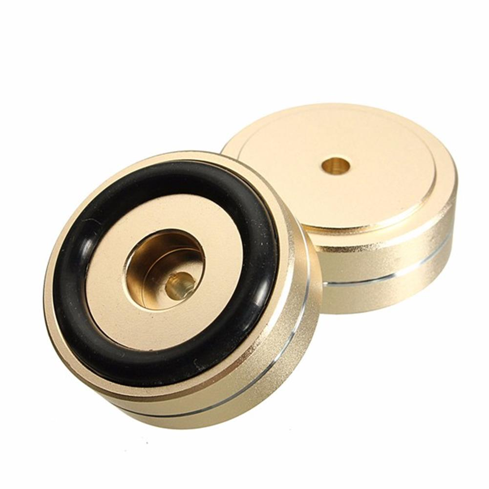 general-accessories 4pcs 40x15mm Isolation Speaker Stand Base Turntable Golden Feet Pad HOB1110691 2