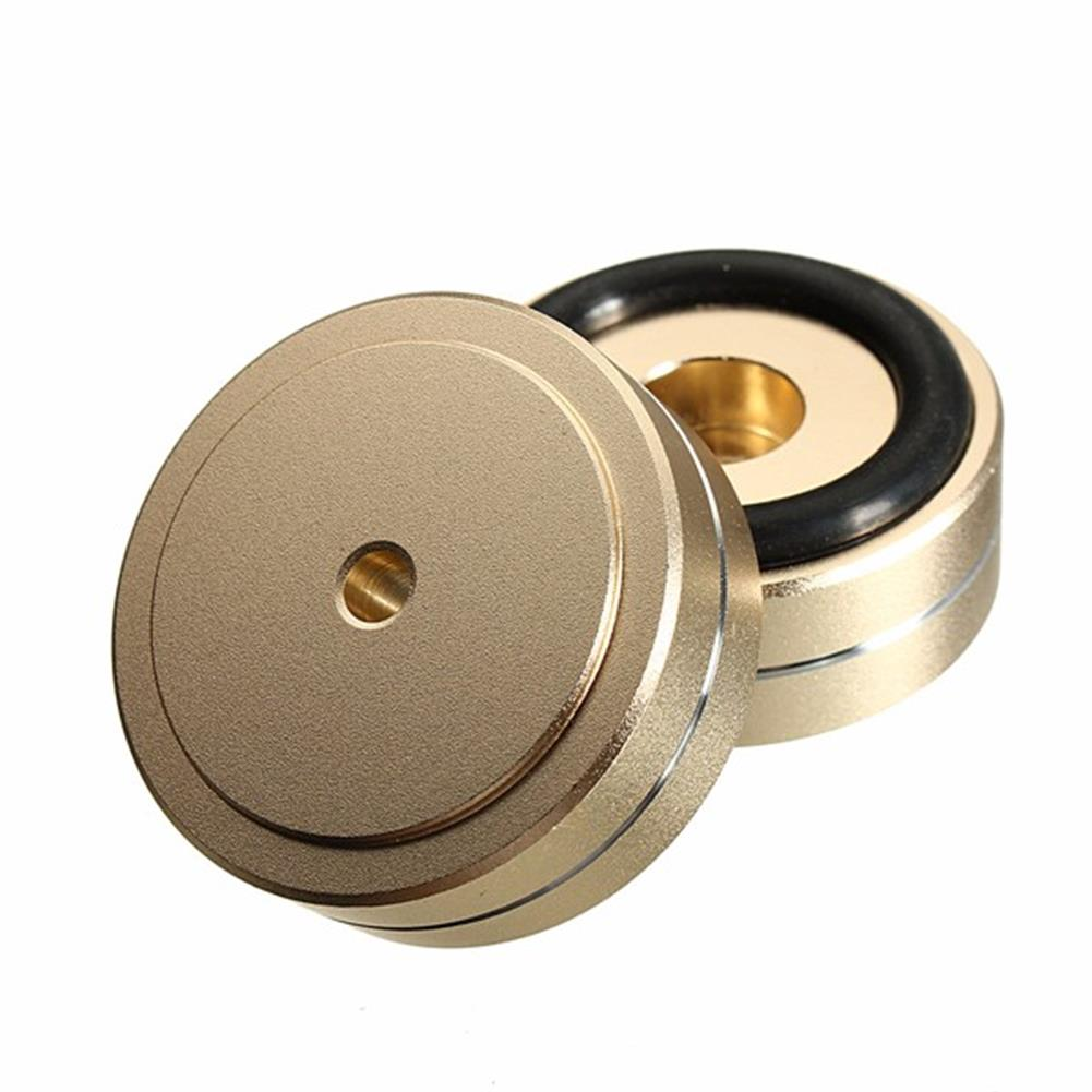 general-accessories 4pcs 40x15mm Isolation Speaker Stand Base Turntable Golden Feet Pad HOB1110691 3