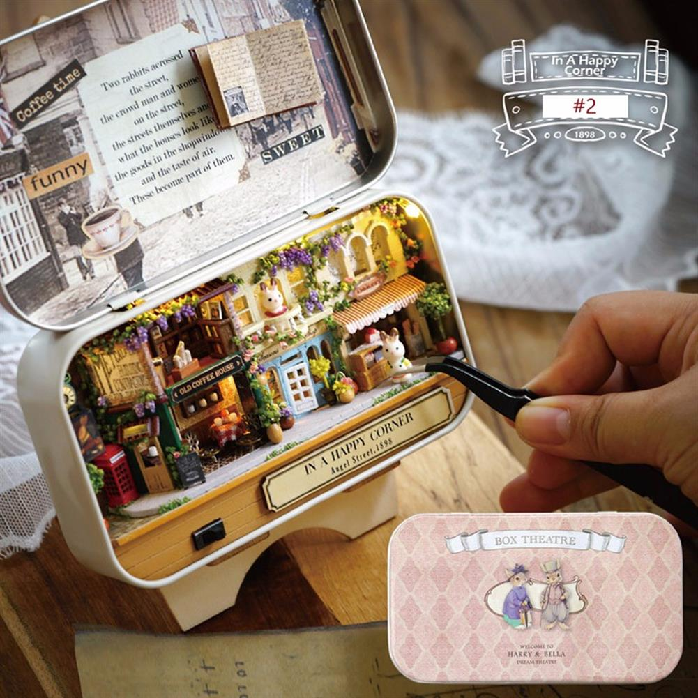 doll-house-miniature Cuteroom Old Times Trilogy DIY Box theatre Dollhouse Miniature Tin Box Doll House with LED Light Extra Gift HOB1113346 2