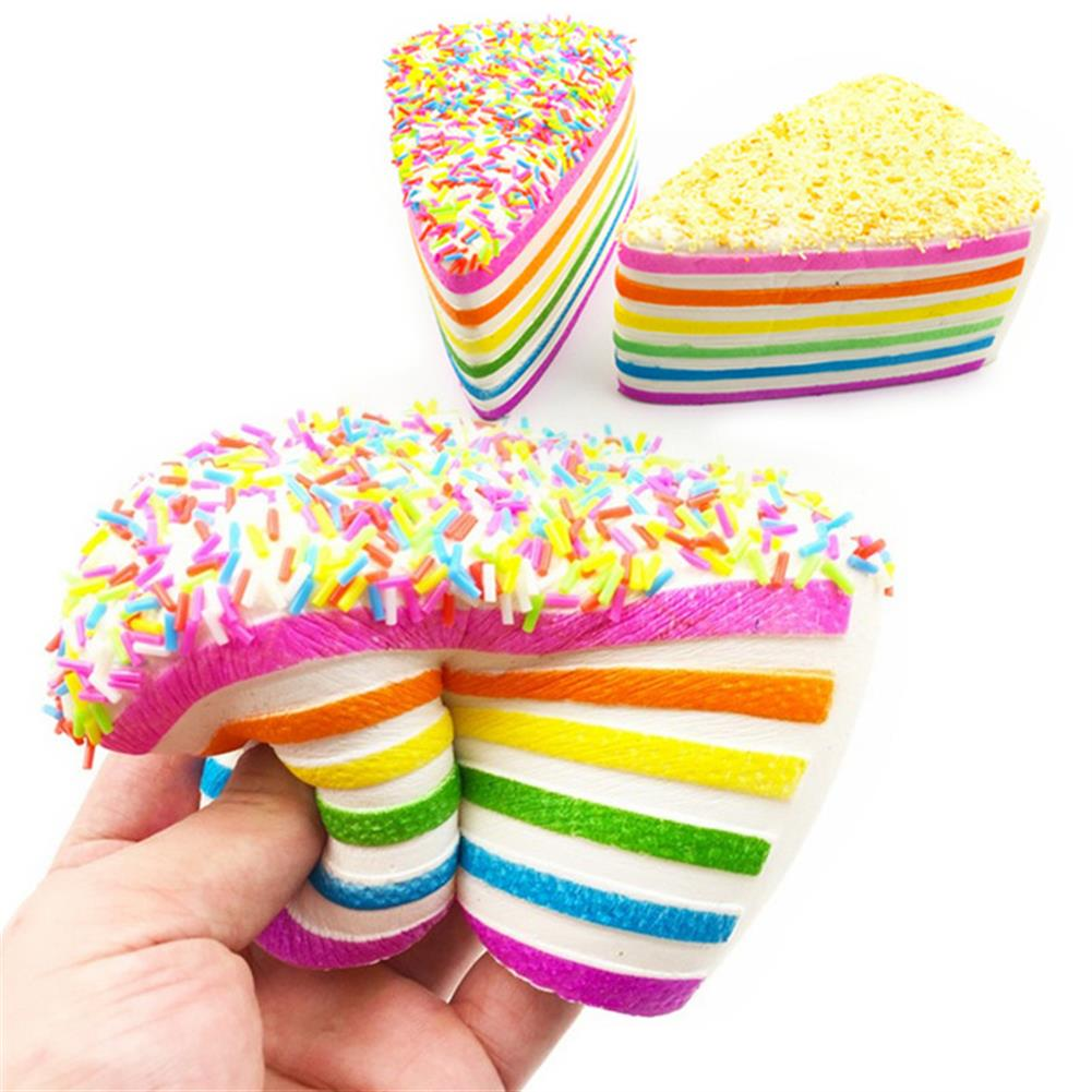 squishy-toys 14x9x8cm Squishy Rainbow Cake Simulation Super Slow Rising Fun Gift Toy Decoration HOB1118758