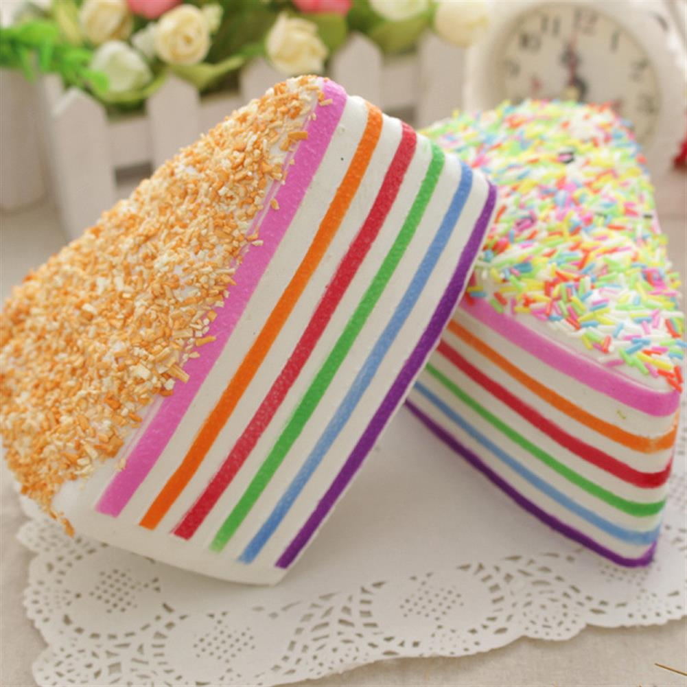 squishy-toys 14x9x8cm Squishy Rainbow Cake Simulation Super Slow Rising Fun Gift Toy Decoration HOB1118758 1