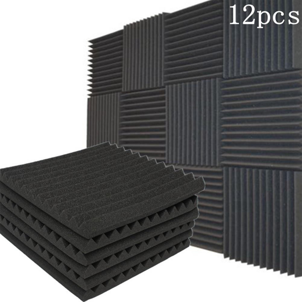 general-accessories 12Pcs Acoustic Soundproof Foam Sound Stop Absorption for KTV Audio Room HOB1130524 1