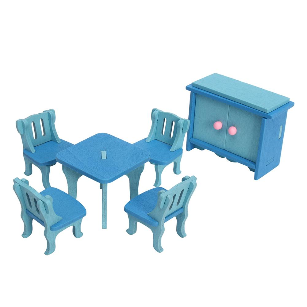 doll-house-miniature 4 Sets of Delicate Wood Dollhouse Furniture Kits for Doll House Miniature HOB1141475 1