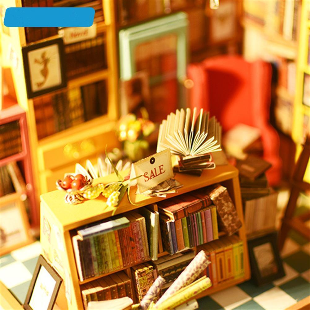 doll-house-miniature Robotime DG102 Sam Book Store DIY Dollhouse Miniature Furniture Kit HOB1142230 1