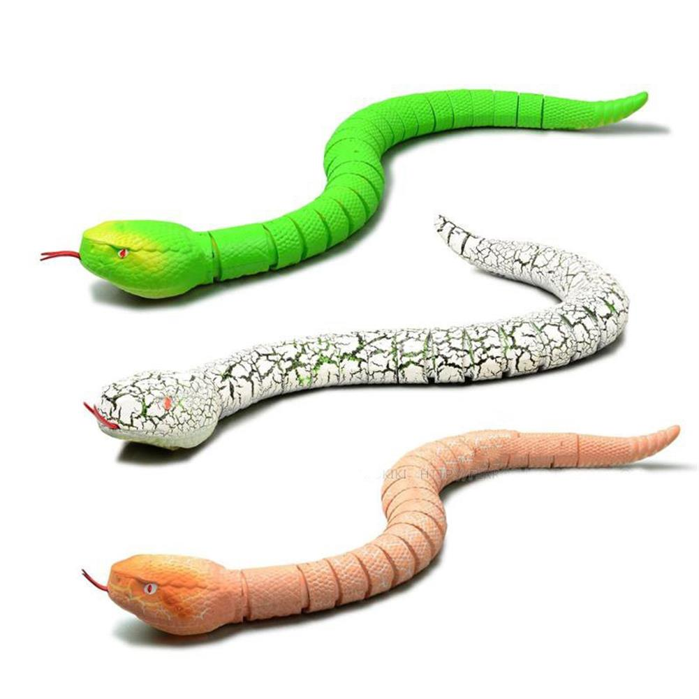 gags-practical-jokes Creative Simulation Electronic Remote Control Realistic RC Snake Toy Prank Gift Model Halloween HOB1143152