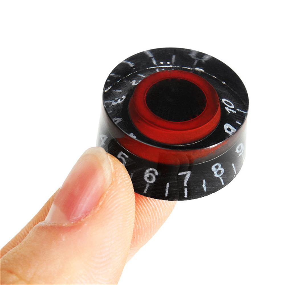 guitar-accessories Black Red Electronic Guitar Speed Dial Knobs Control Knobs for LP LES PAUL Guitar HOB1146021
