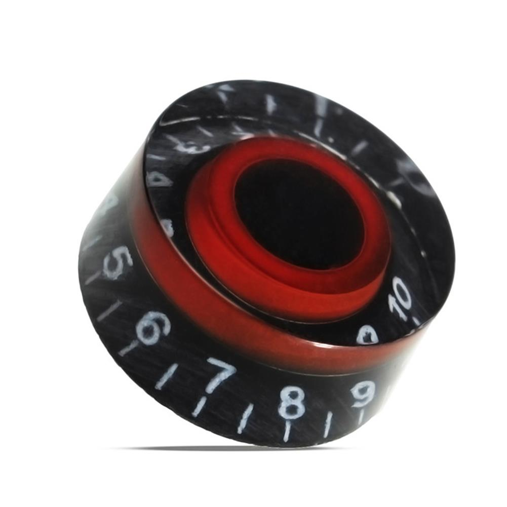 guitar-accessories Black Red Electronic Guitar Speed Dial Knobs Control Knobs for LP LES PAUL Guitar HOB1146021 1