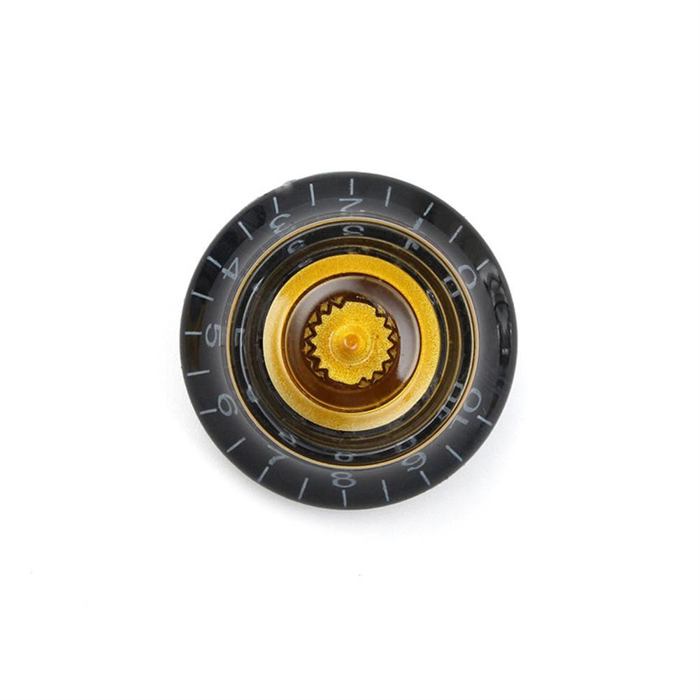 guitar-accessories 1PC Black Gold Plastic Electric Guitar Volume Voice Speed Knobs for Les Paul Guitar HOB1146024 1