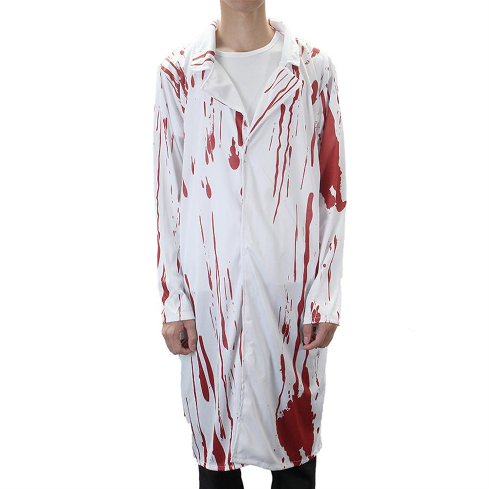 mask-costumes Halloween Costume Terror Nurse And Doctor Clothes with Blood Adult Costume HOB1162638