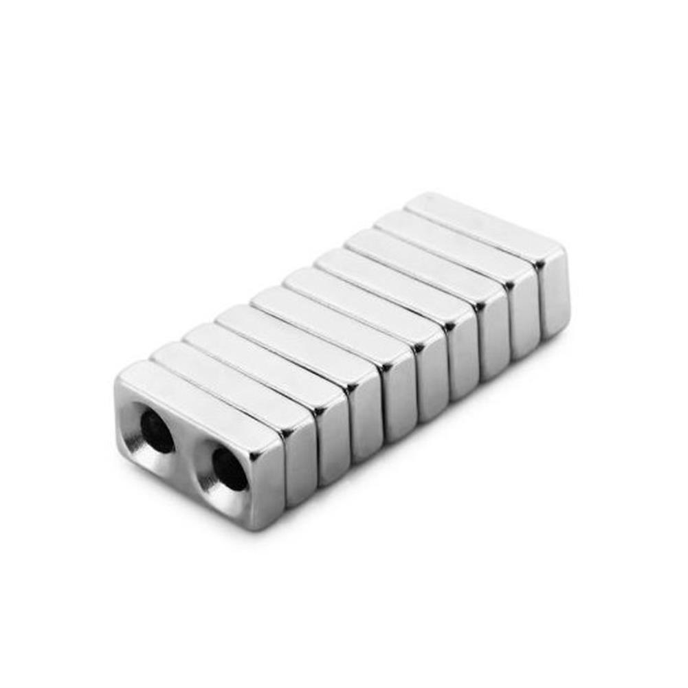 magnetic-toys 10Pcs20 x 10 x 5mm N38 Magnetic Toys Powerful Creative NdFeB Cube for Kid Adult DIY HOB1163519