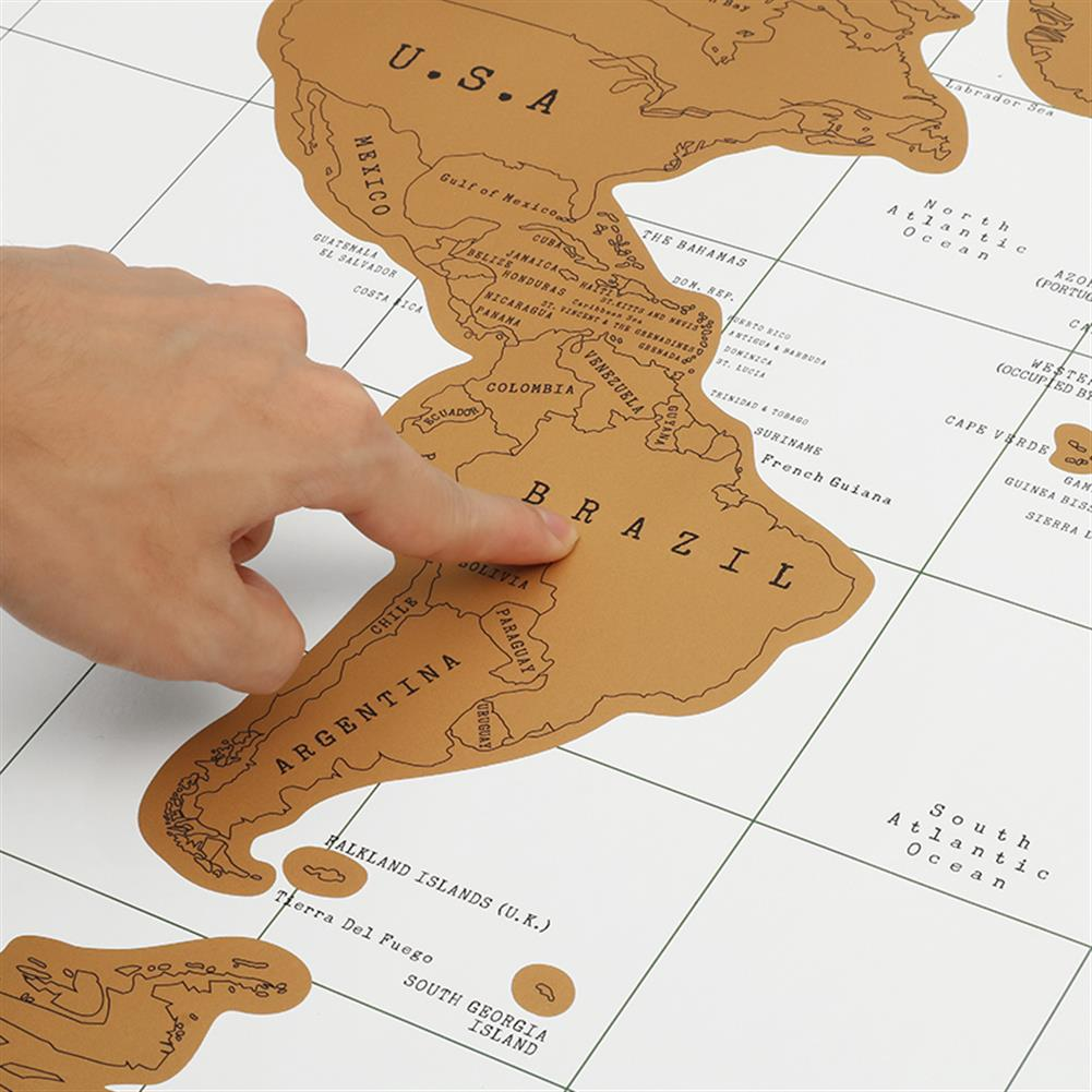 novelties Paper Traveling Scratch Map World Edition Convenient Marking Toys Gift HOB1165072 2