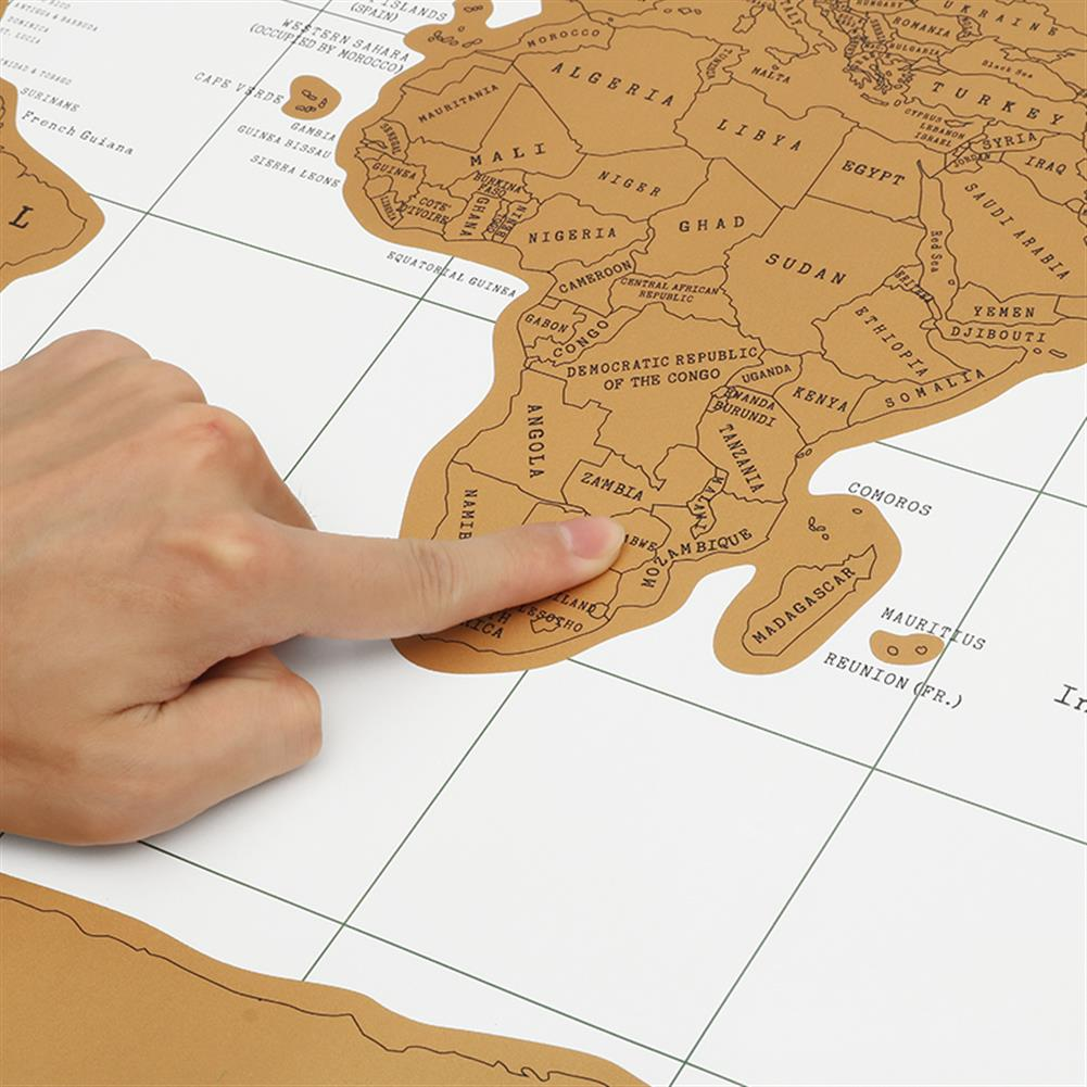 novelties Paper Traveling Scratch Map World Edition Convenient Marking Toys Gift HOB1165072 3