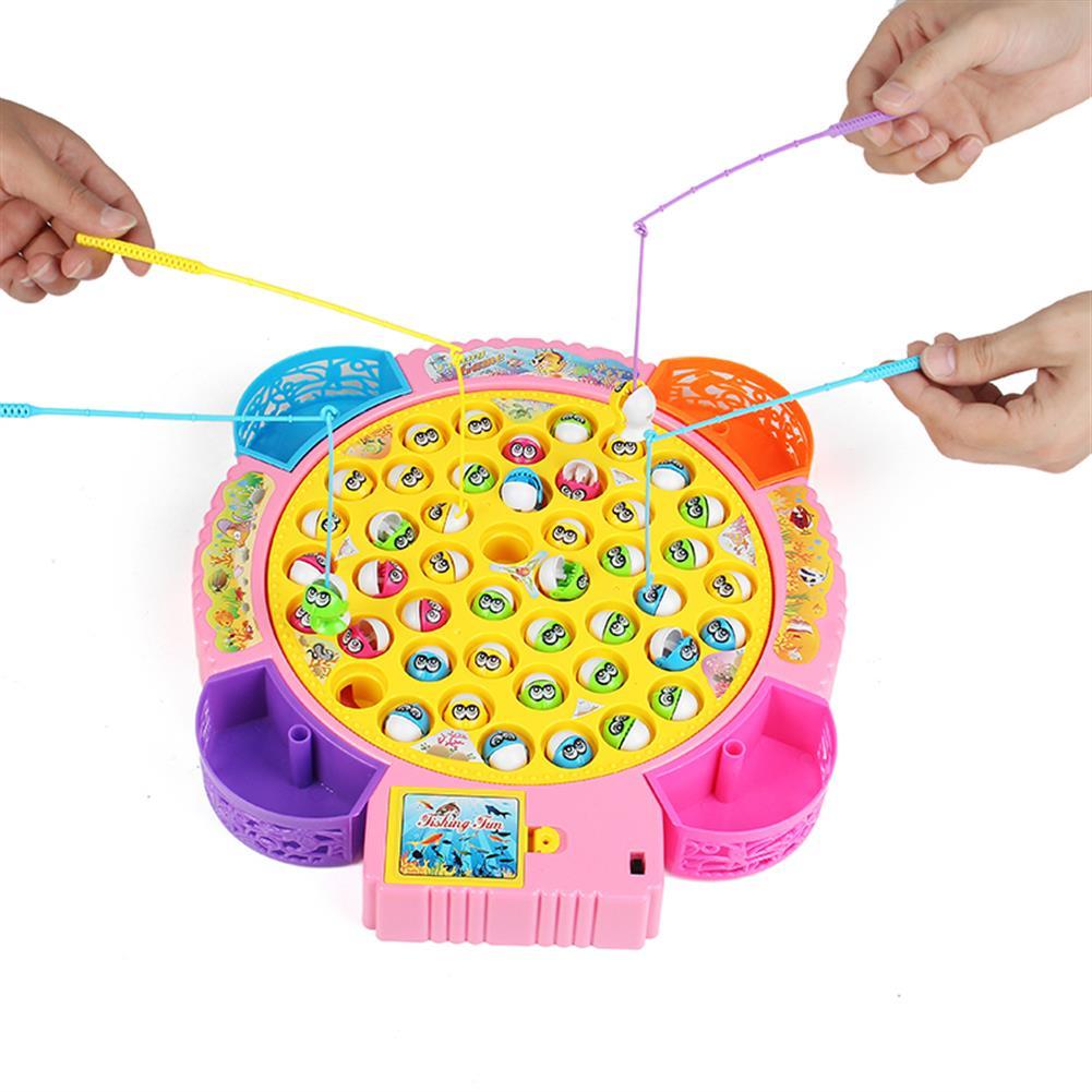novelties Large Fish Plate Electric Fishing Pond Set Novelties Toys W/ Music for Kids Children Random Color HOB1165187
