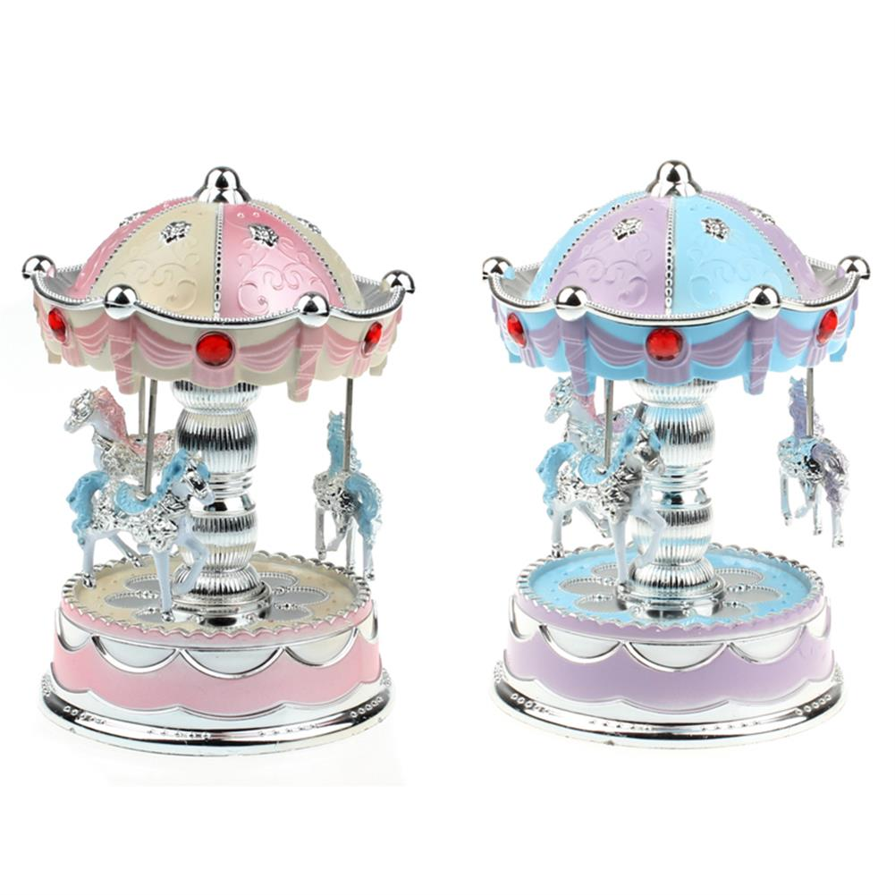 music-box Merry-Go-Round Carousel Music Box with Light for Gift Decoration Toy HOB1165485