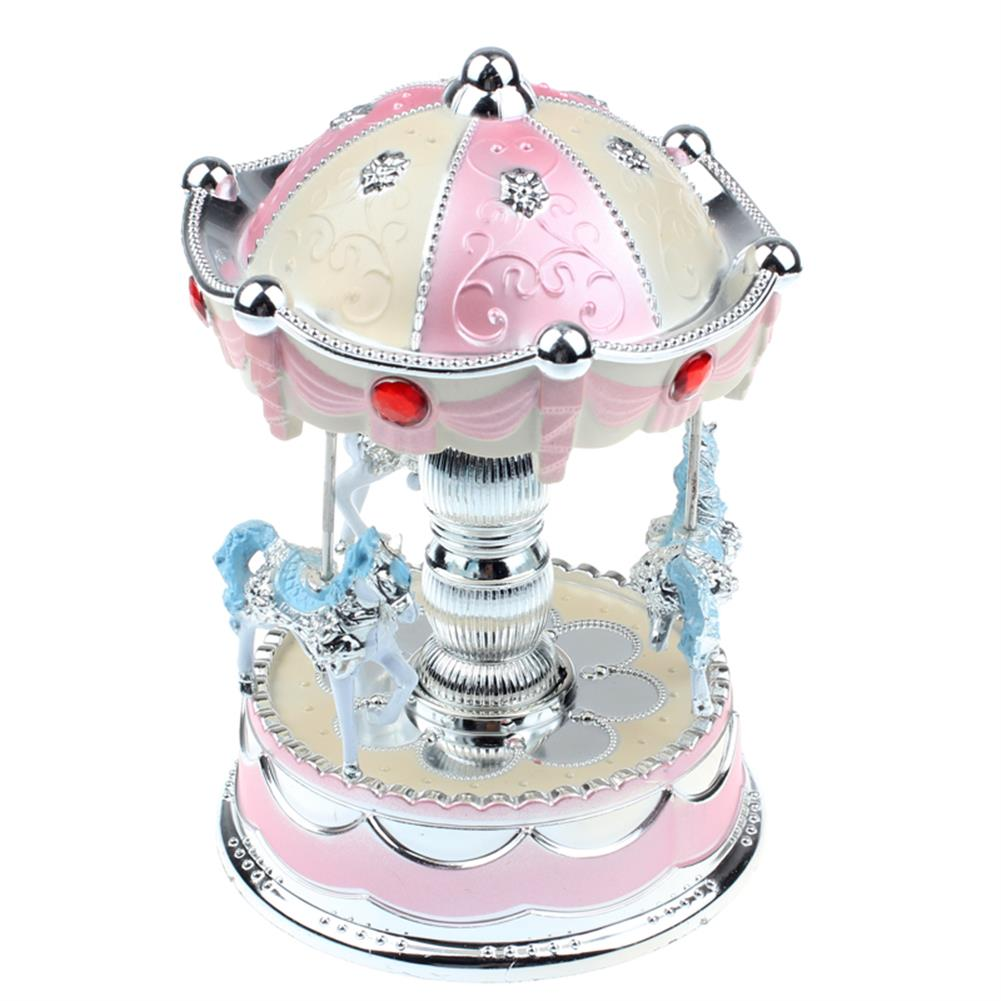 music-box Merry-Go-Round Carousel Music Box with Light for Gift Decoration Toy HOB1165485 1