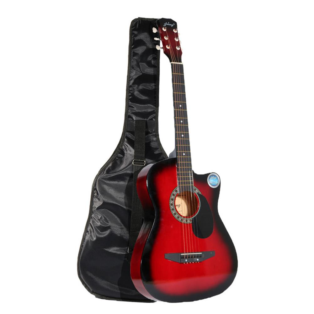 acoustic-guitars Jixing 38 inch Wooden Angled Acoustic Guitar 6 Color Folk Guitar with Storage Bag Gift for Beginner HOB1167808 1