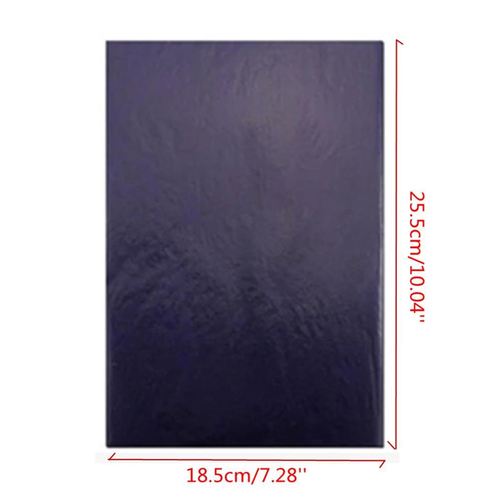 paper-art-drawing 100Pcs Blue Carbon Hand Copier Stencil Transfer Paper Hectograph 18.5X25.5cm HOB1172819 2