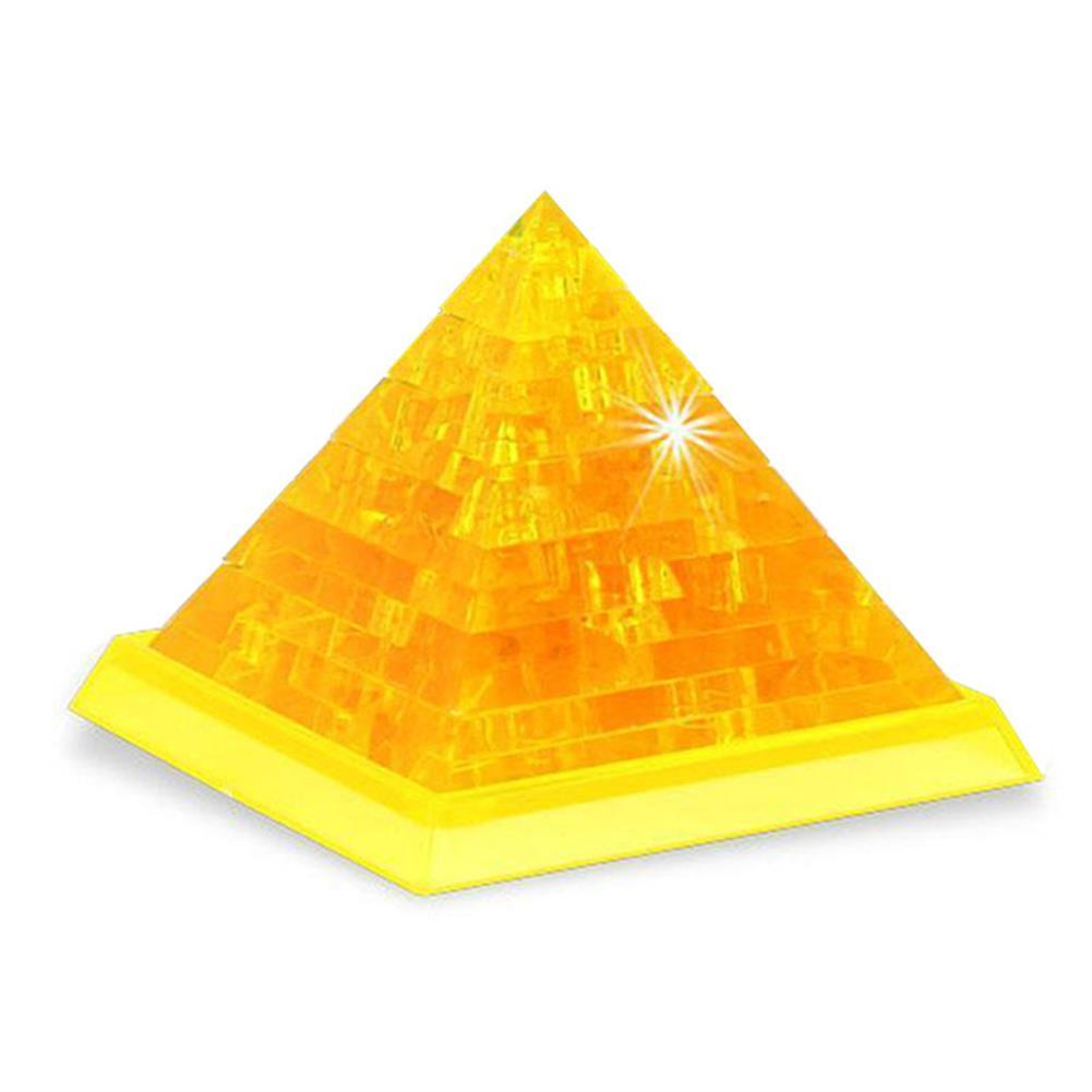 blocks-track-toys Novelty IQ Crystal Blocks Jigsaw Puzzles Toy 3D Pyramid DIY Model Gift HOB1177623