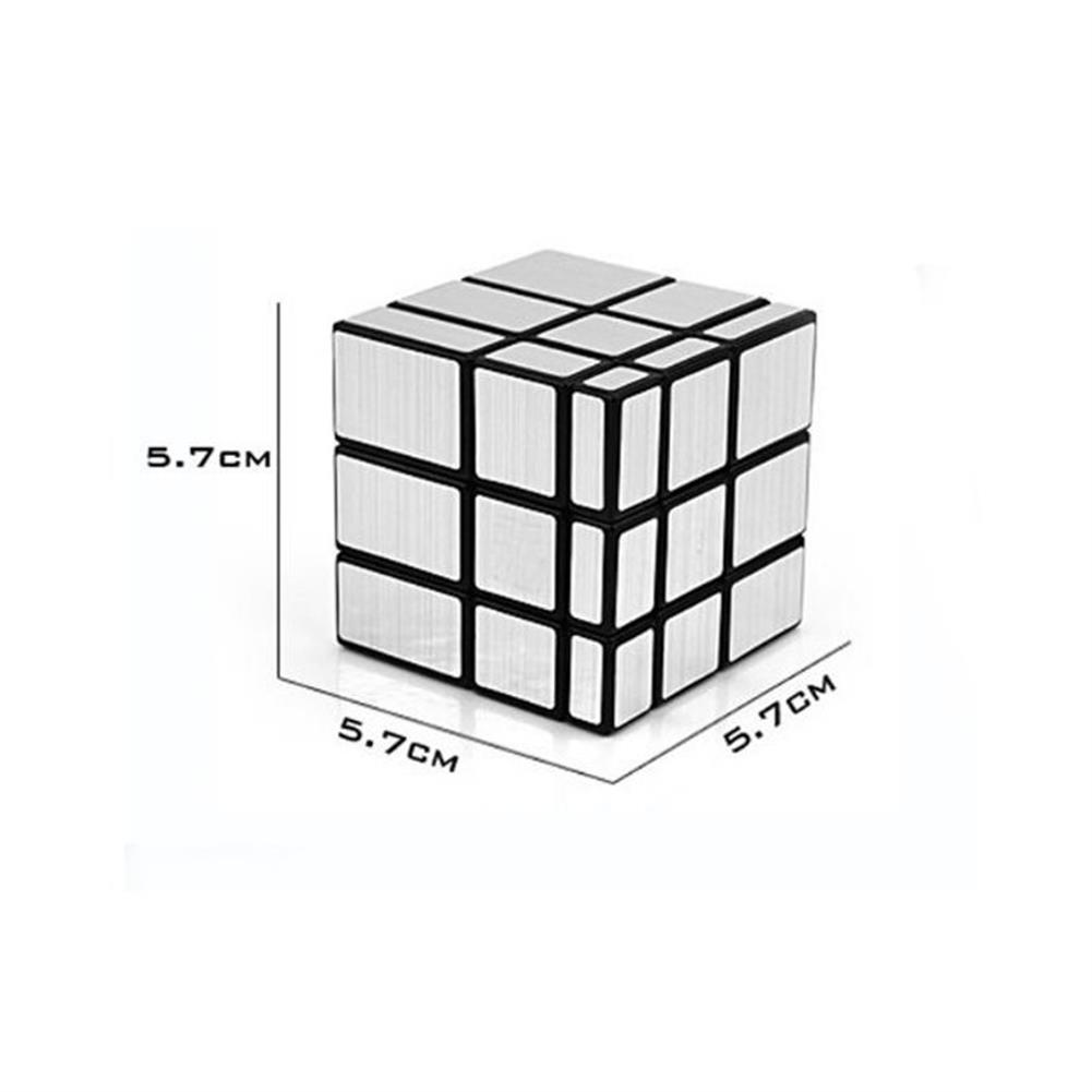 stress-relievers 3x3x3 57mm Wire Drawing Style Mirror Magic Cube Challenge Gifts Cubes Educational Toy HOB1179594 1