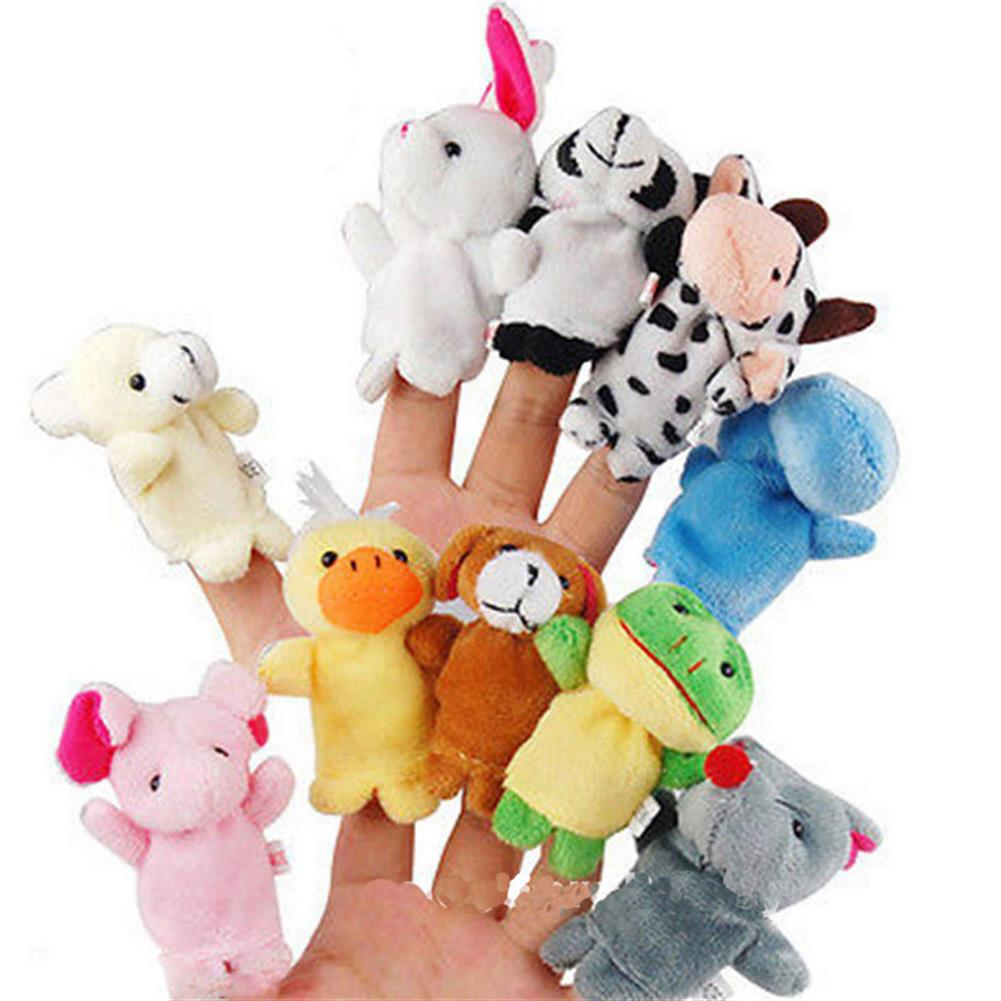 stuffed-plush-toys Family Finger Puppets Soft Cloth Animal Doll Baby Hand Toys for Kid Children Educational Gift HOB1179871