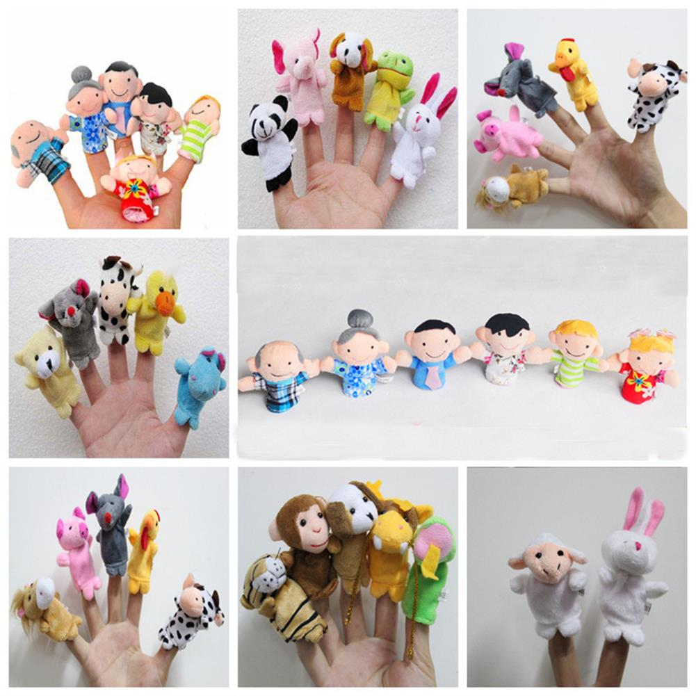 stuffed-plush-toys Family Finger Puppets Soft Cloth Animal Doll Baby Hand Toys for Kid Children Educational Gift HOB1179871 1