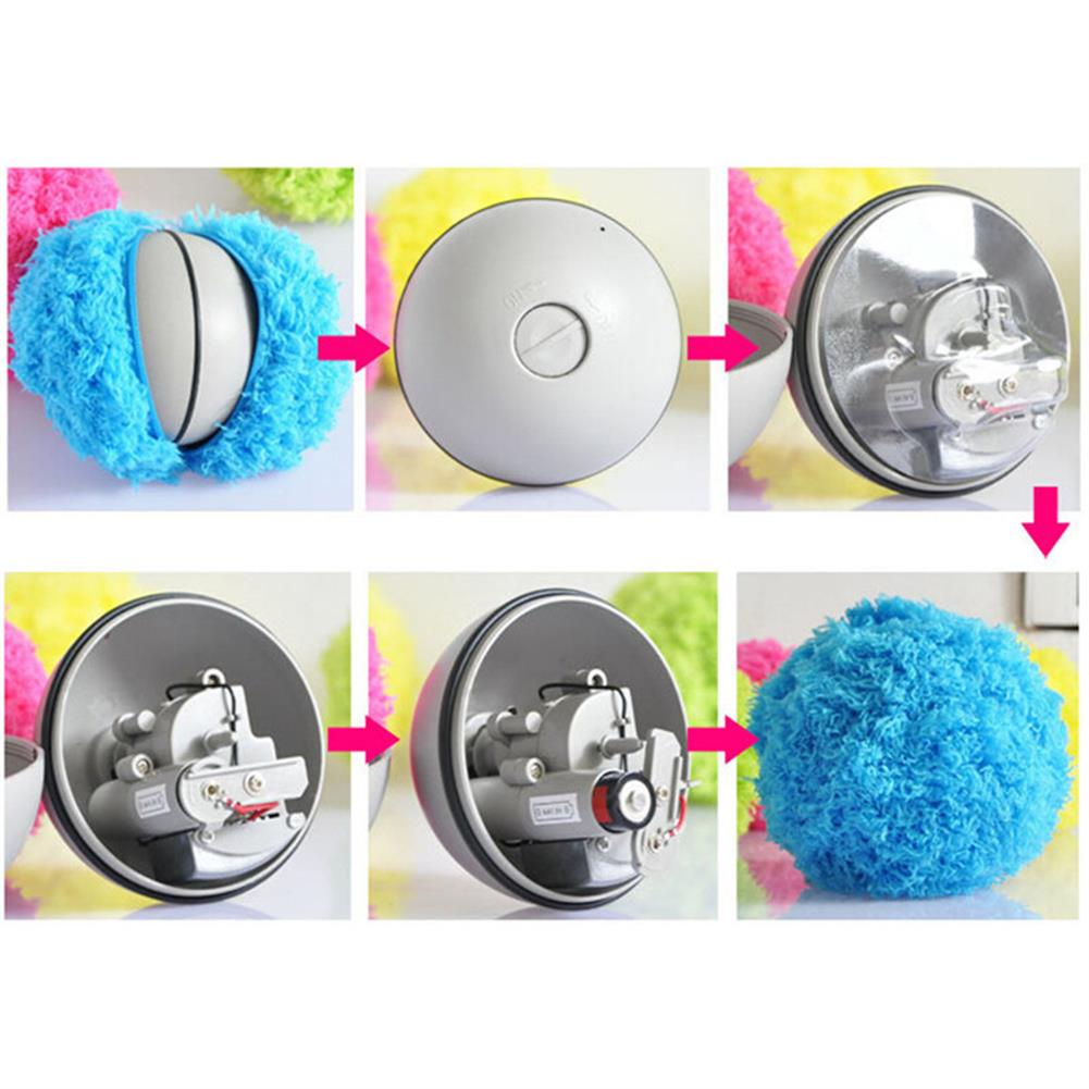novelties Microfiber Mop Rolling Ball Sweep Robots Automatic Vacuum Cleaner Plush Electronic Toys Random Color HOB1181634 3
