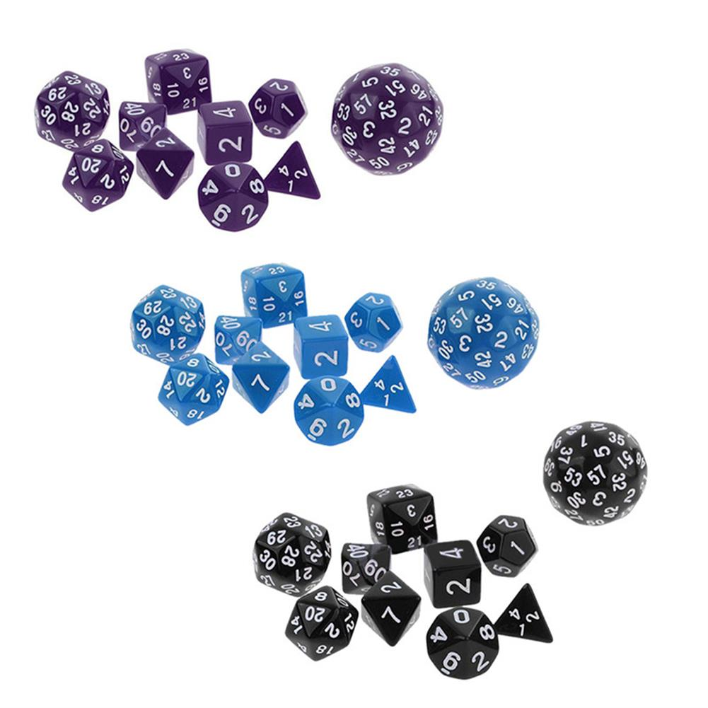 novelties 10Pcs Multi Sided Dices Set for RPG Dungeons & Dragon Role Play Game Gift HOB1182613