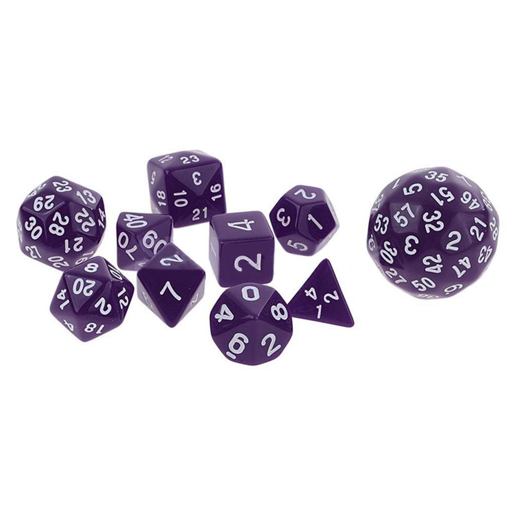 novelties 10Pcs Multi Sided Dices Set for RPG Dungeons & Dragon Role Play Game Gift HOB1182613 1