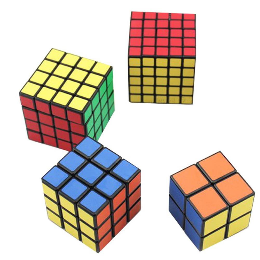 stress-relievers 4PCS Classic Magic Cube Toys Set 2x2x2 and 3x3x3 4x4x4 and 5x5x5 PVC Sticker Block Puzzle Speed Cube HOB1183197