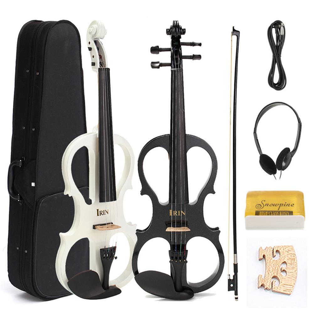 violin 4/4 Electric Violin with Headphone Gig Bag Bow Cable for Beginner HOB1185187