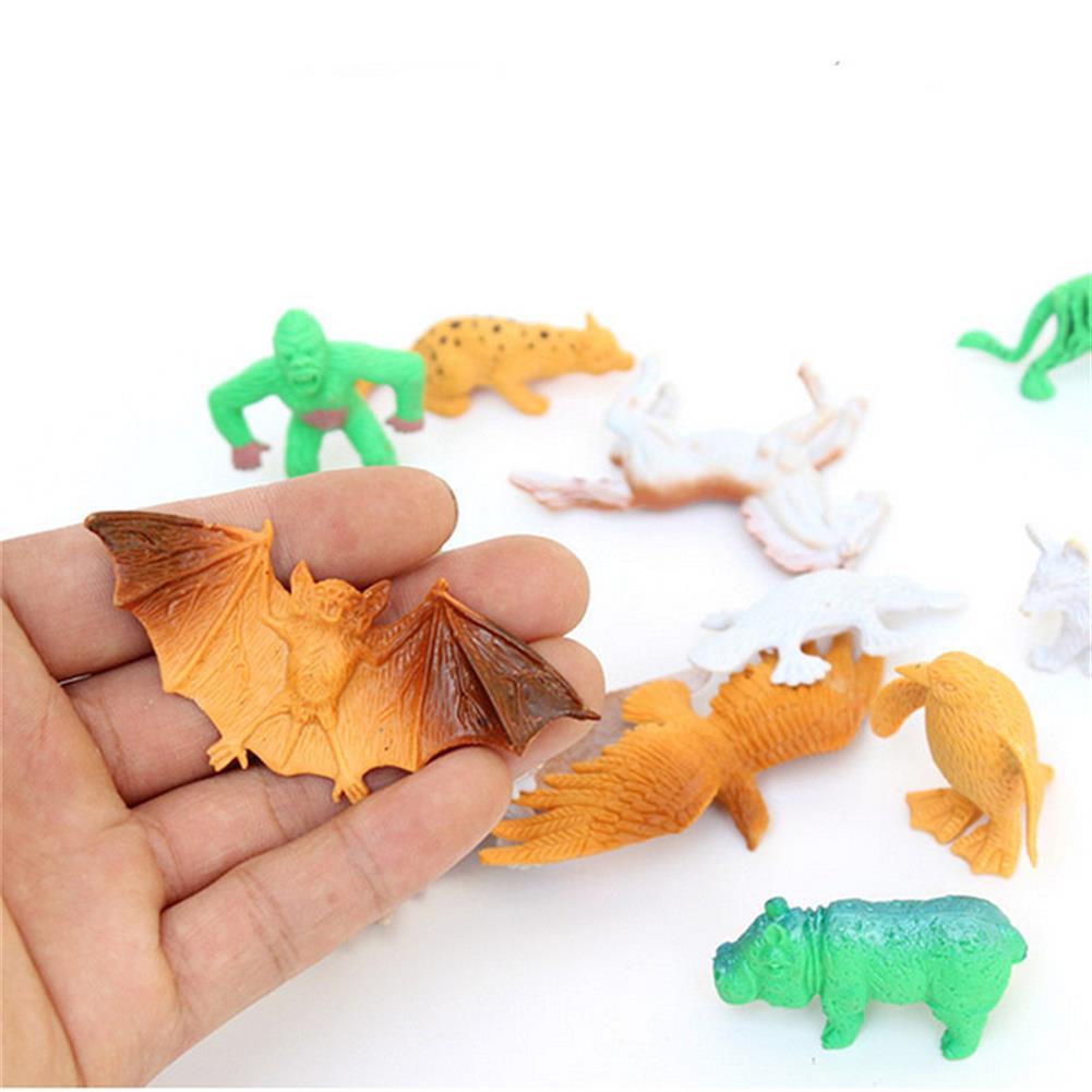model-building 68PCS Plastic Farm Yard Wild Animals Fence Tree Model Kids Toys Figures Play New HOB1186300