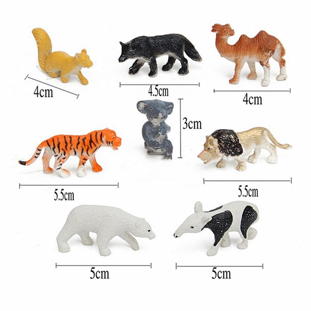 model-building 68PCS Plastic Farm Yard Wild Animals Fence Tree Model Kids Toys Figures Play New HOB1186300 1